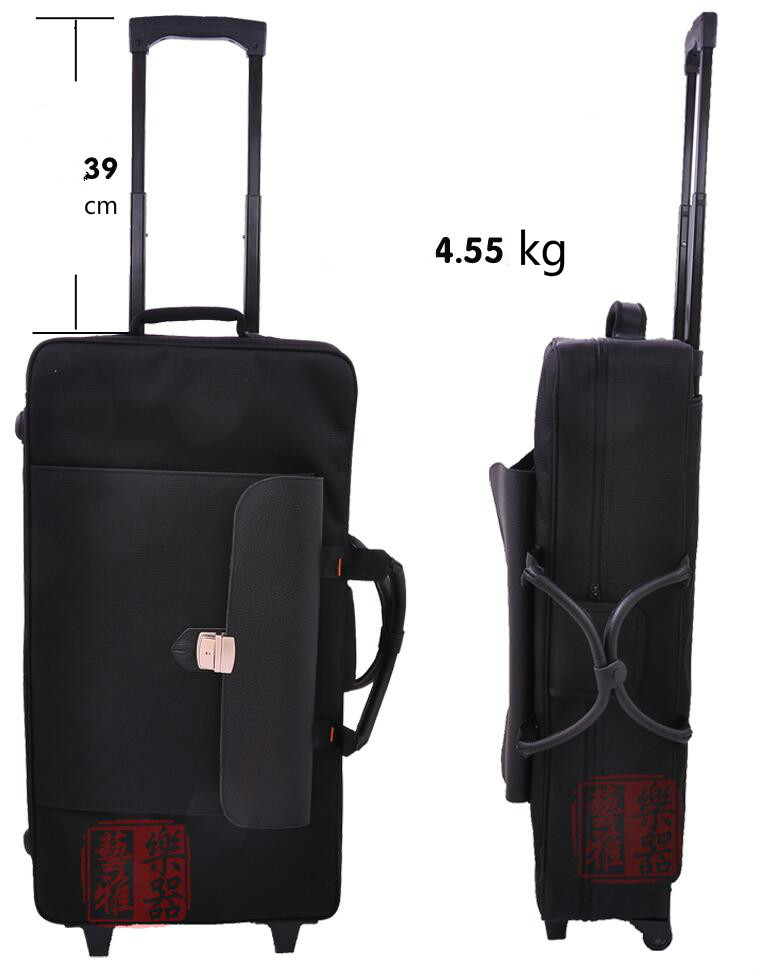 Soprano + Alto Saxophone Case Pull rod with Wheel, Tenor Sax + Alto Sax Case Bag Pull rod with Wheel soprano concert tenor ukulele bag case backpack read item description carefully separate to buy this product is only one bag