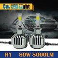 1 Par 80 W 8000LM LLEVÓ el Bulbo H1 6000 K Conversión de Coches Niebla de la Linterna de Luz Drl de La Lámpara Blanca