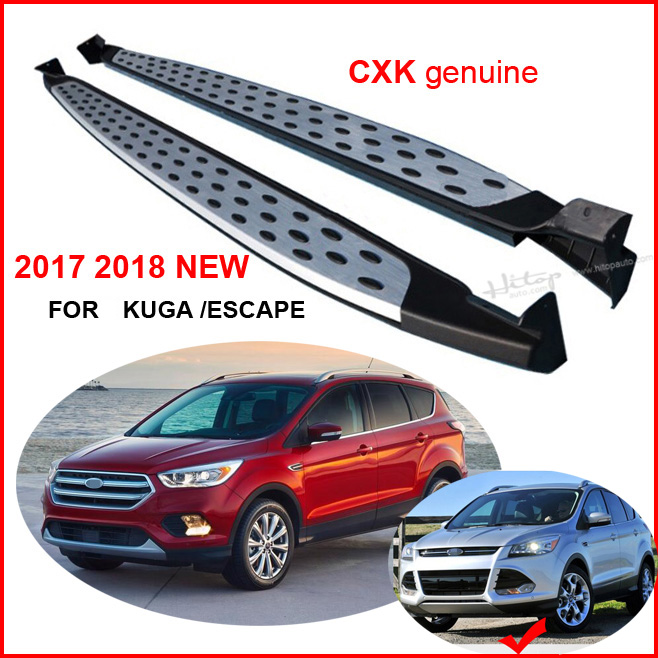 for Ford 2017 2018 NEW Escape/Kuga running board side step bar, CXK geunine,BM model,ISO9001 quality,thicken aluminium alloy