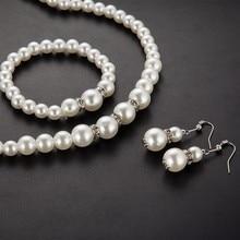Simulated Pearl Jewerly Set