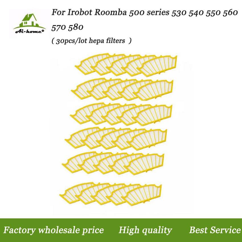 US $11 02 20% OFF 30 x High Quality Hepa Filters Replacement Parts for  iRobot Roomba 500 Series 527 528 530 532 535 540 555 560 562 Vacuum  Robots-in