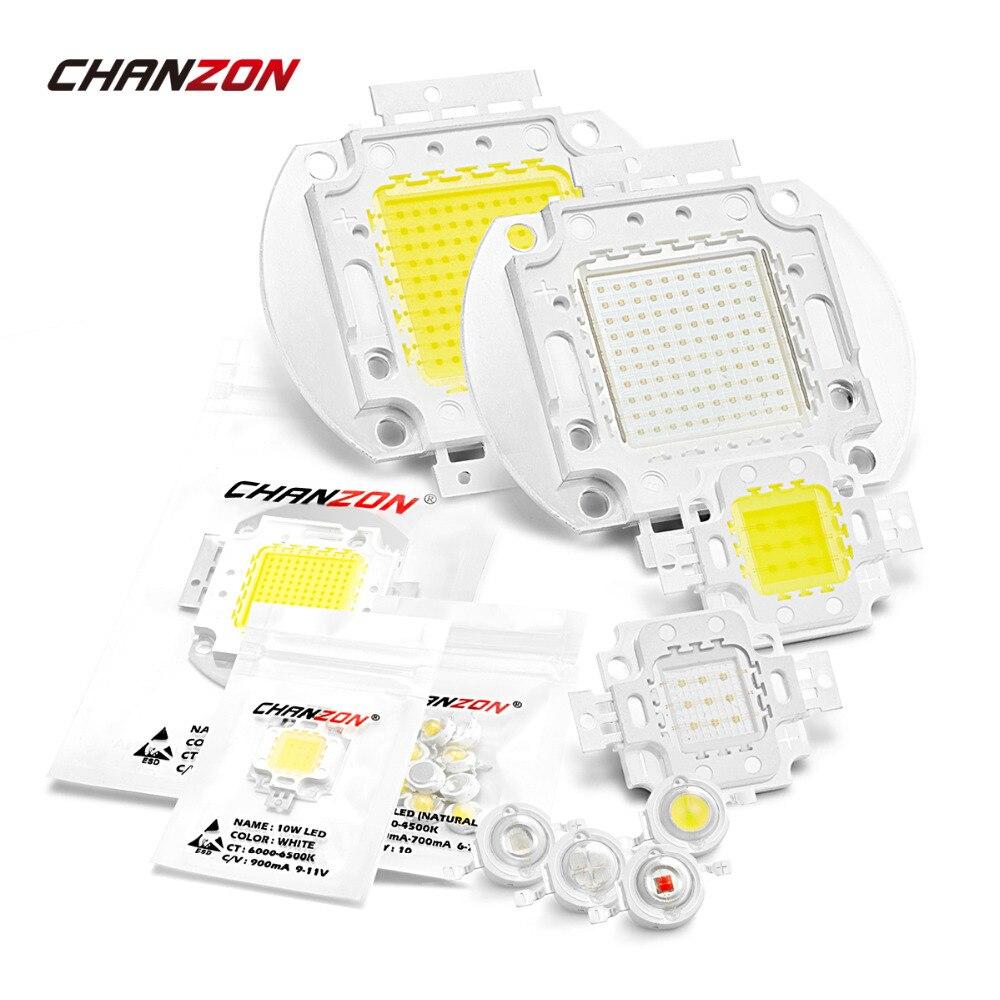 Haute puissance LED COB lampe ampoules puce 1 W 3 W 5 W 10 W 20 W 30 W 50 W 100 W chaud blanc froid rouge vert bleu carré lumière matrice intégrée
