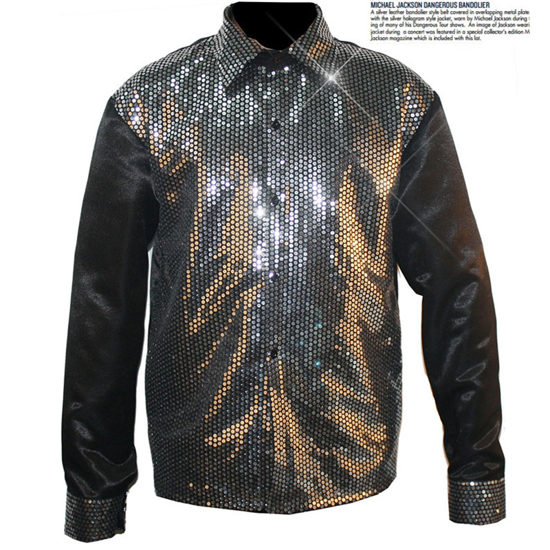 Vintage /'80s KIKS Women Shirt Blouse Career Sportswear Black Shimmer Polyester Chevron Power Suit Thriller Michael Jackson Secretary 10 12 M