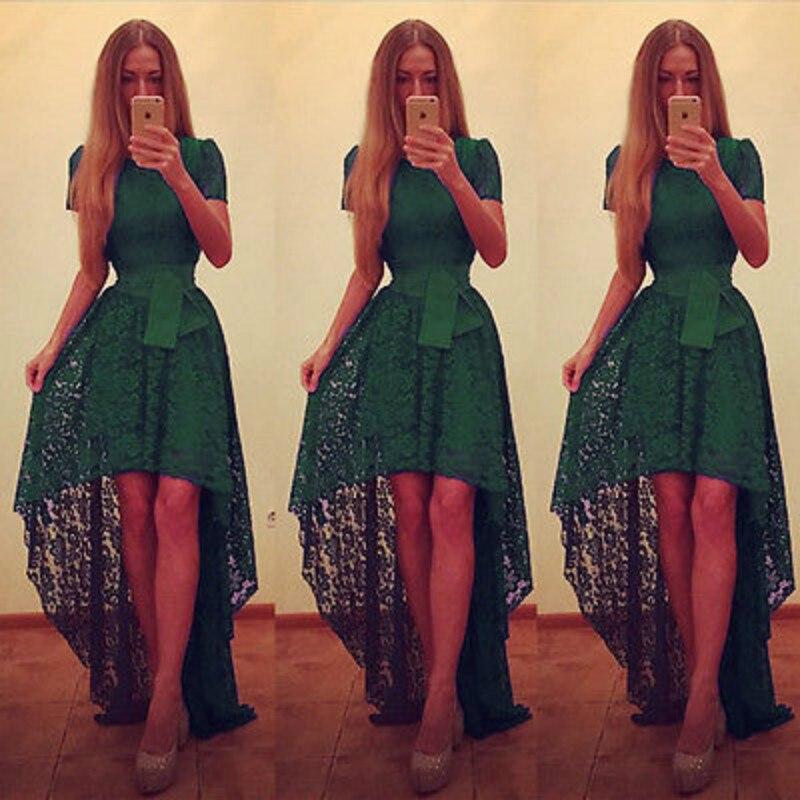 2017 мода сексуальный женский корсет Кружева Макси формальное платье с коротким рукавом дамы высокого качества элегантное вечернее бальное ...