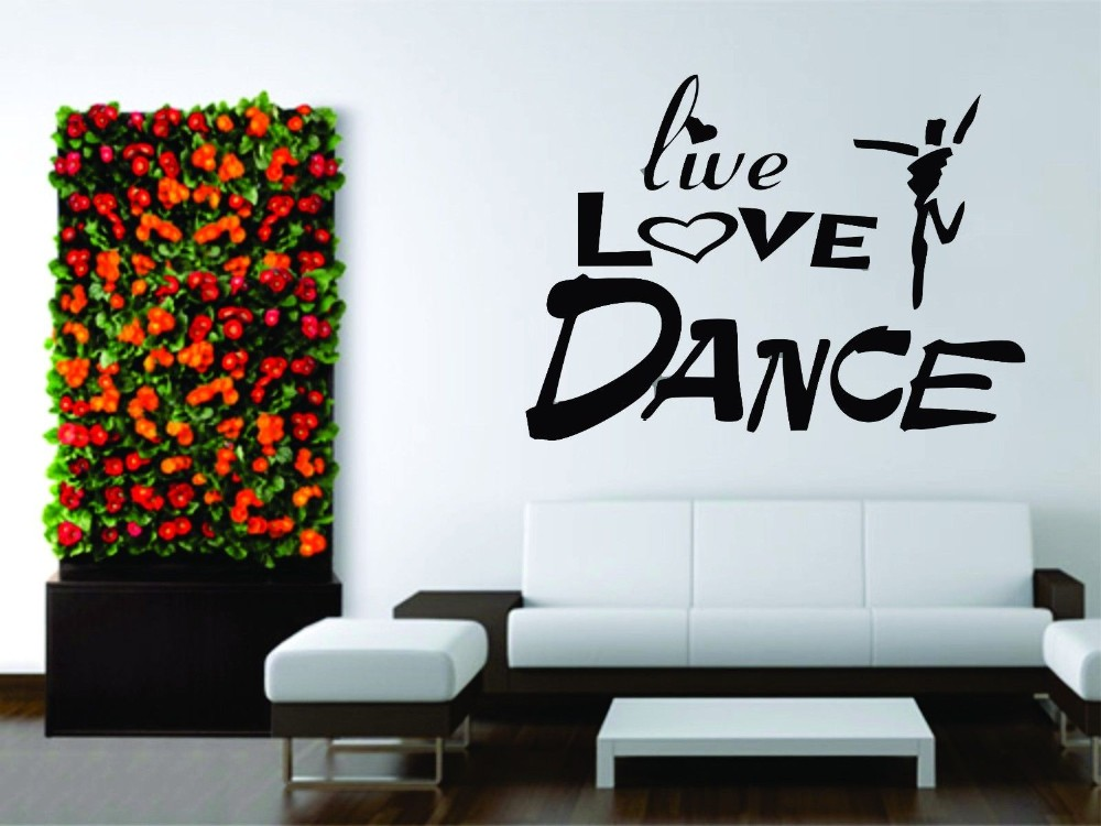 """LOVE Car Sticker Great /""""LIVE DANCE/"""" Vinyl Sticker Wall Art"""