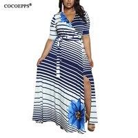 Autumn Style Bohemian Bandage Maxi Dresses Summer Sexy Deep V Neck Badycon Plus Large Size Dress