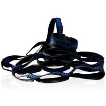 Blue C-Style Hammock Straps Rope Accessories Load 2000KG Strong(China)
