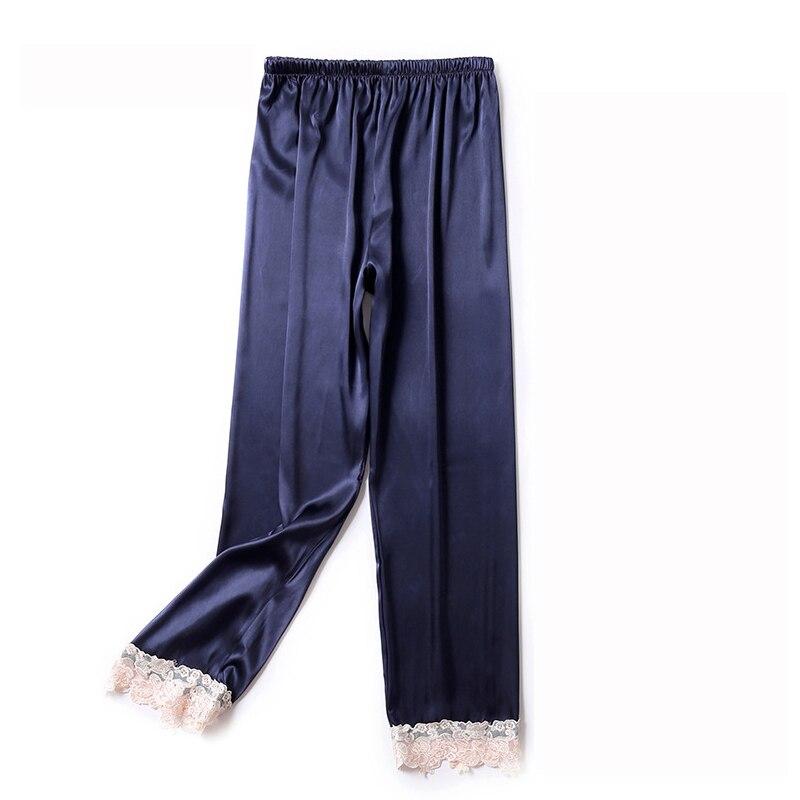 Autumn Women Satin Bottoms Sleep Trousers Loose Casual Pajamas Nightwear Sleep Lounge Pants Sleepwear Homewear