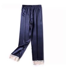Sleep Lounge Pants Sleepwear Nightwear Women Satin Bottoms