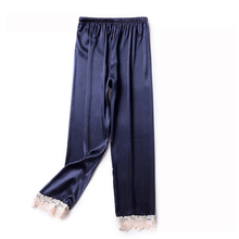 ZOOLIM Autumn Women Satin Bottoms Sleep Trousers Loose Casual Pajamas Nightwear
