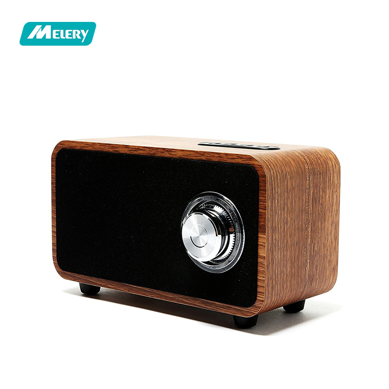 Wooden Bluetooth Speaker Super Bass Subwoofer Portable 3D Stereo 10Hour Playtime Enhanced FM Radio For Home Outdoor Party/Beach