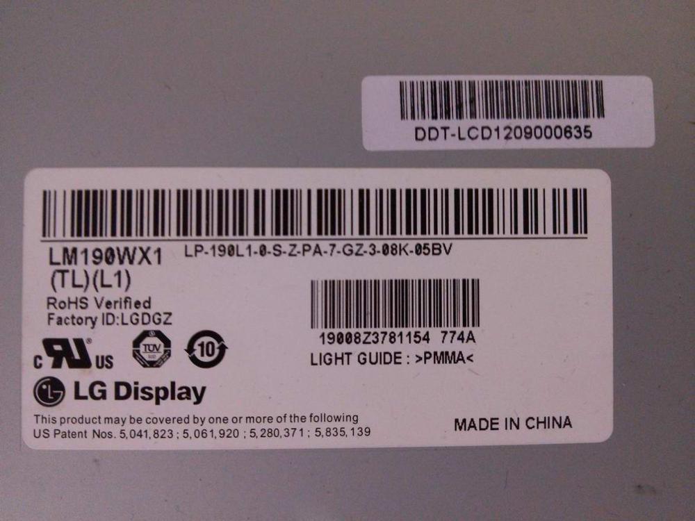 Bilgisayar ve Ofis'ten Tablet LCD'ler ve Paneller'de 100% orijinal Yeni LM195WX1 WD1 LM190WX2 WX1 M190CGE L20 M195FGE L20 M195RTN01 sanayi ekran title=