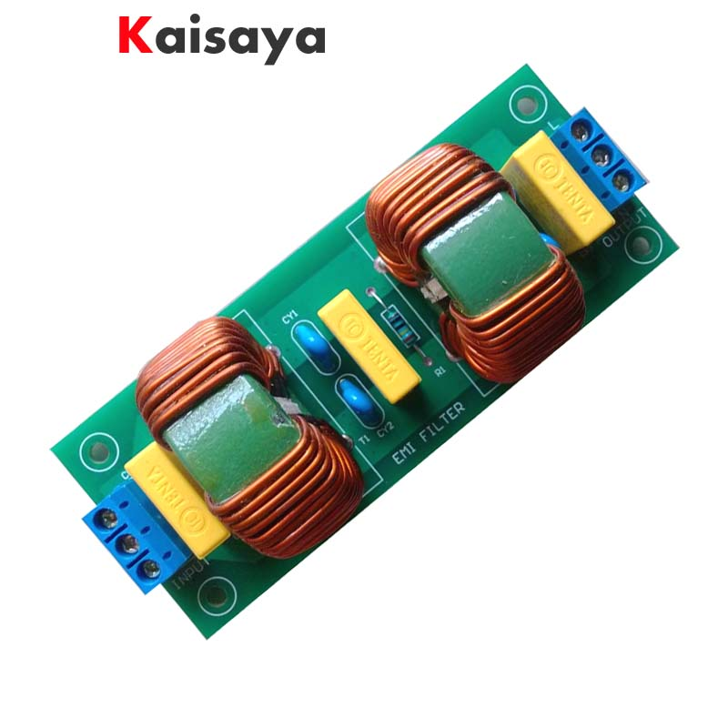 Two-stage 10A EMI power supply purifier filter noise impurity AC DC universal finished board for CD DVD DAC Blu-ray A7-013