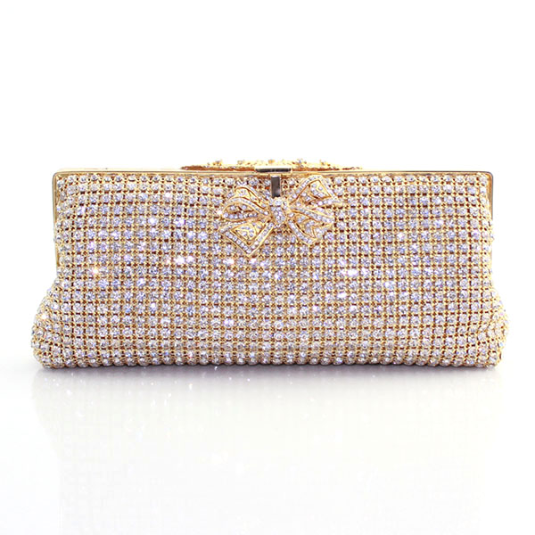Elegant Ladies Crystal Clutch Hand Bags Fashion Dinner Bag with Chain Metal Frame Wedding Party Evening Bag Purse(2105-BG) high grade red blue black leather with a fine metal fashion temperament ladies dinner party handbags evening wedding bag clutch