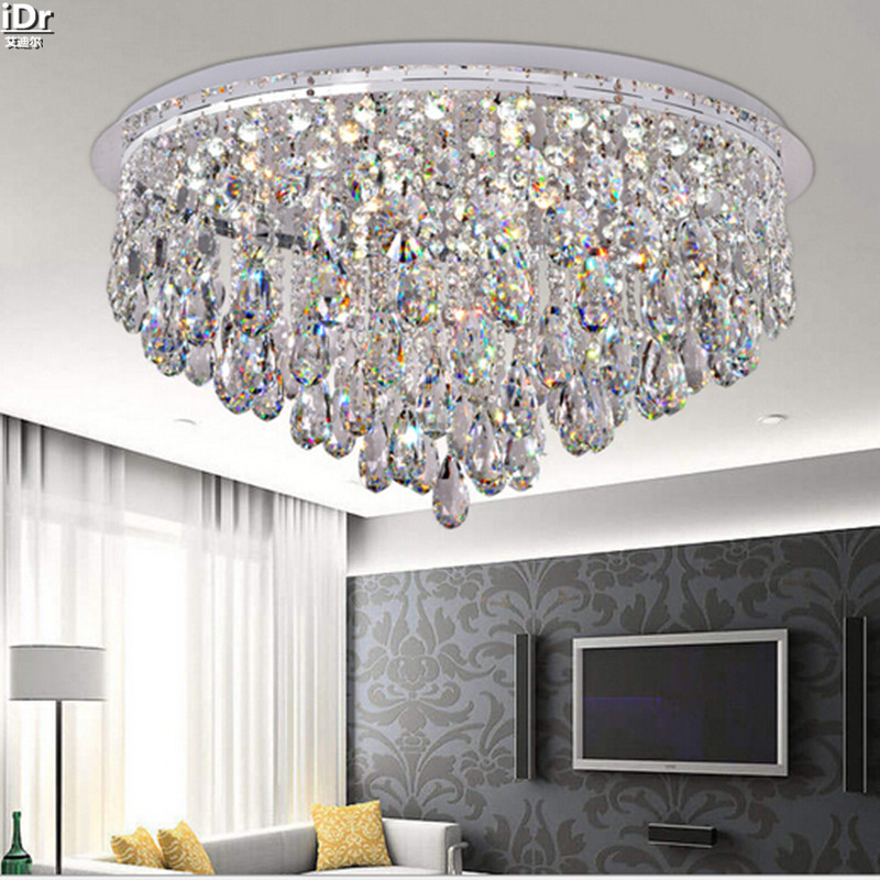 Crystal light crystal simple circular fashion home living room crystal light crystal simple circular fashion home living room bedroom hall led lights ceiling lights luxury lamp free delivery in ceiling lights from aloadofball Images