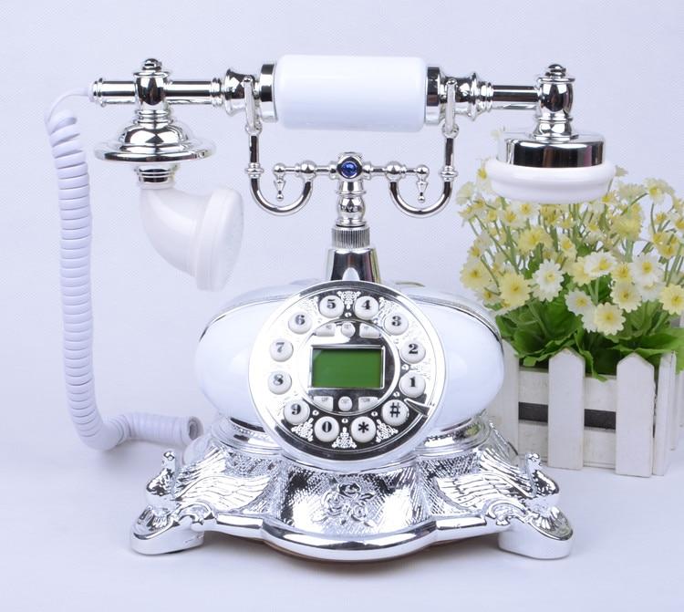 Ye are the top antique European Garden retro home office telephone landline phone caller ID Decoration home art rustic backlit