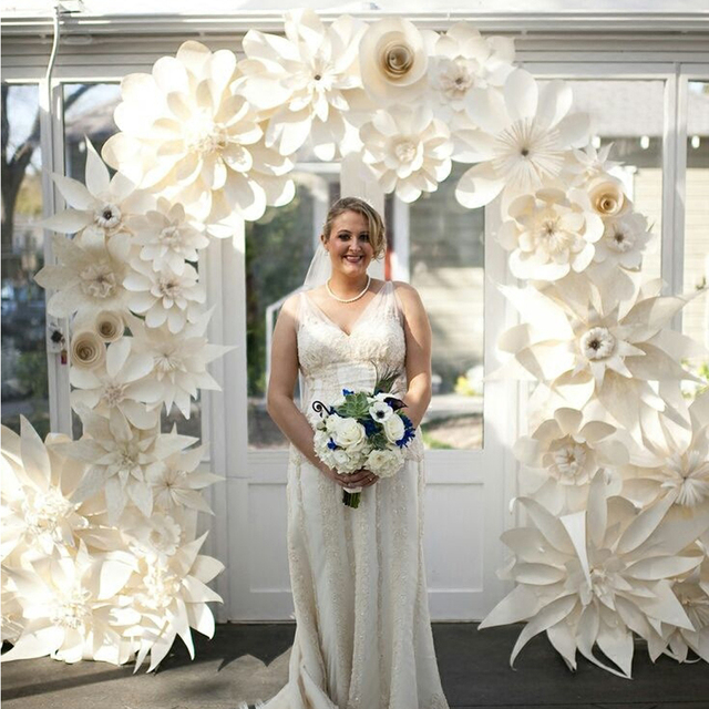 Aliexpress buy 38pcs giant paper flower set large flower big 38pcs giant paper flower set large flower big paper flower for wedding party background mightylinksfo