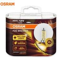 OSRAM Sis Kesici 2600 K H1 H3 H4 H7 H8 H11 H16 9005 9006 12 V Ampuller 200% Sarı Işık 60% Daha Parlak Araba Halojen Lambalar OEM 2 adet