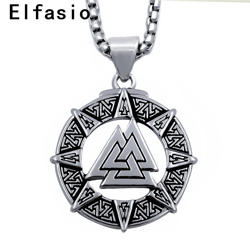 Viking Valknut Necklace Pendant Odin Fine Pewter Made in the USA Norse Jewelry Viking Designs Viking Jewelry Hrungnir/'s Heart