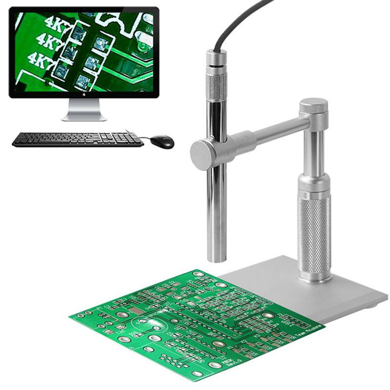 500x Zoom Digital Microscope 2MP USB Microscope PCB Inspection Camera Pen Endoscope Loupe with 8LED Light for Circuit Repair 1x 500x usb portable microscope otg function 8led digital zoom magnifier with holder video camera magnification 0 3cm focus