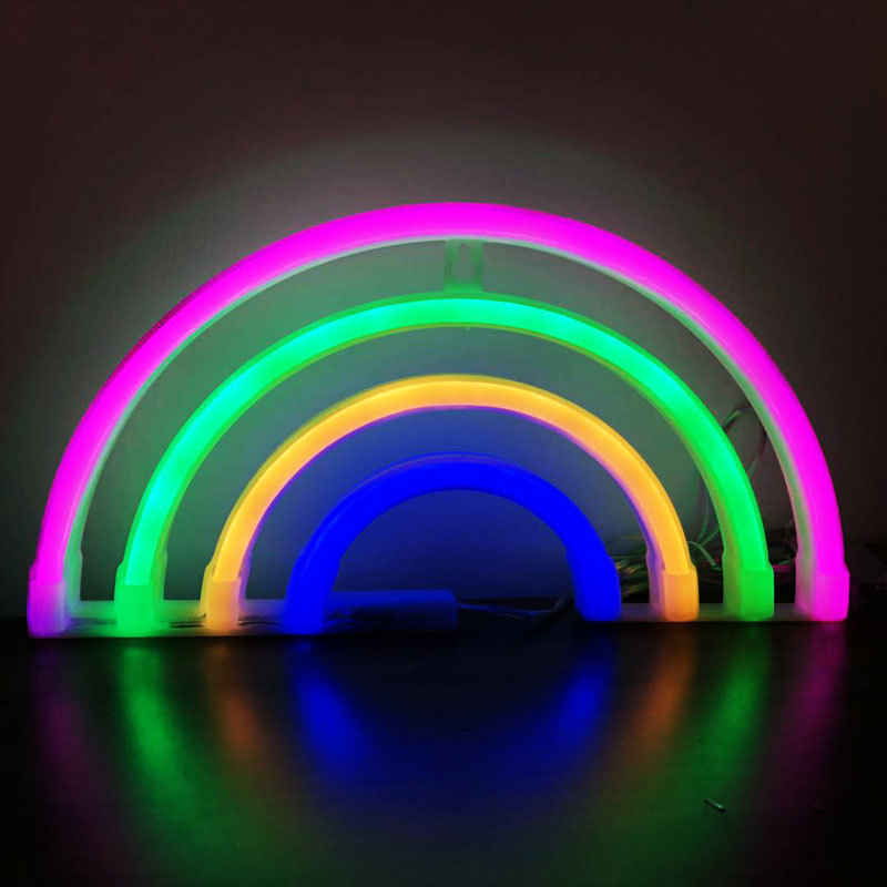 Купить с кэшбэком Fashion Colorful Rainbow Led Neon Sign Light Holiday Xmas Party Wedding Decorations Kids Room Night Lamp Home Wall Decor 11 Kind
