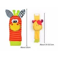 Cartoon Baby Speelgoed Pols Band Sokken Dier Pluche Rammelaars kinderen Speelgoed 0-12 Maanden Pasgeboren Voet Finder Sok pasgeboren Rammelaar 5