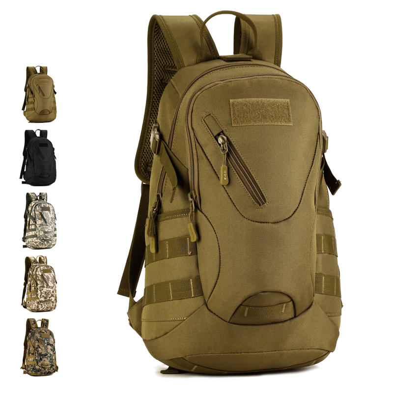 20L Convenient Military Fans Outdoor Tactical Backpack Men Waterproof Camouflage Army Bag Hiking Camping Hunting Rucksacks S423