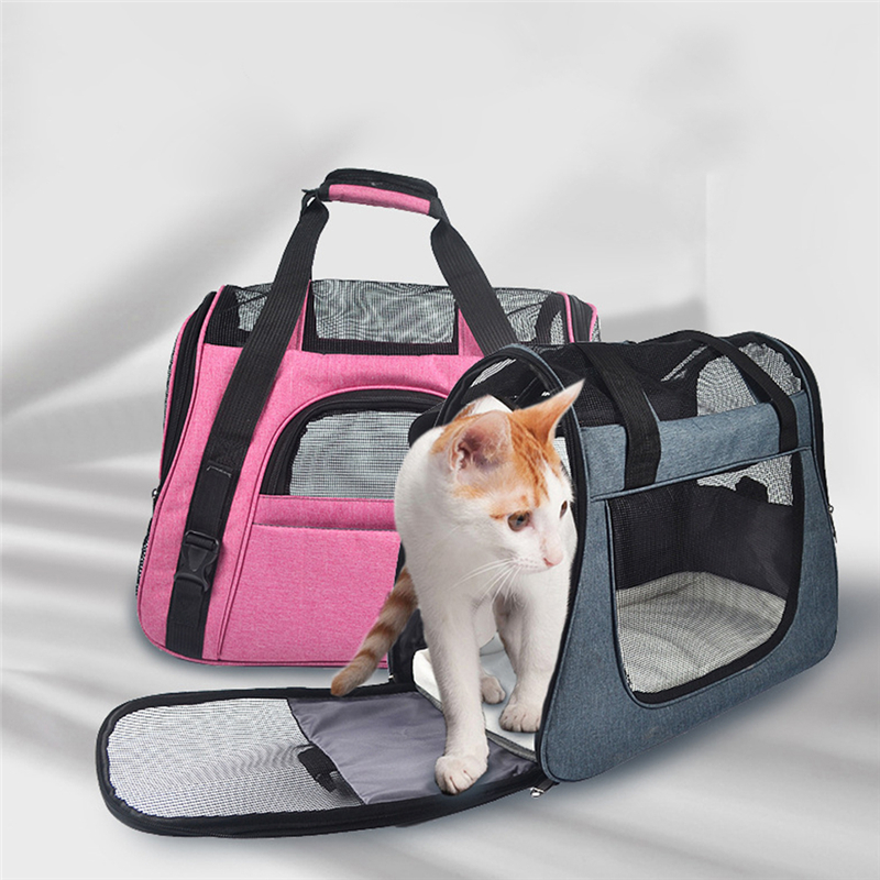 46*23*35cm Pet Carrier Case Travel Tote Shoulder Bag Pet Dog Portable Home Bed Crate Cage Puppy Cat Travel Soft Carrier Case