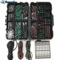 Assorted Carp Fishing Accessories Tackle Boxes For Hair Rig Combo Box With Hooks Rubber Tubes Swivels
