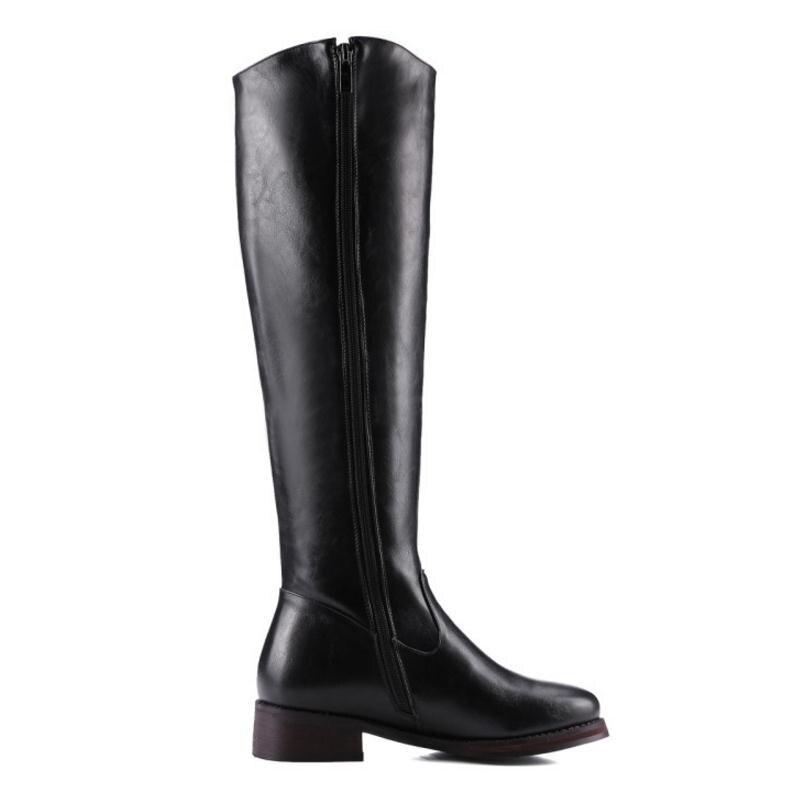 De Fourrure Chaude Chaussures Bottes 32 Zipper Footwears marron Haut Pour 43 Noir Femmes Talon Les Taille En Razamaza Hiver Botas jaune Longues Genou Froid rCoeBdx