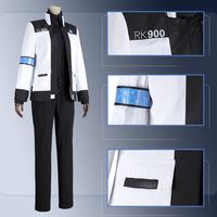 Game Detroit:Become Human Connor 900 Cos RK900 Agent Suit Uniform woman Cosplay Costume jacket shirt pants Customize Made