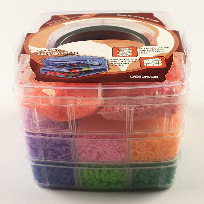 11000 pcs 5mm Hama Perles Panier Set 15 Couleurs Perler Perles 3d Puzzle Jouets Tangram Puzzle avec Accessoires Complets Enfants Jouets cadeau