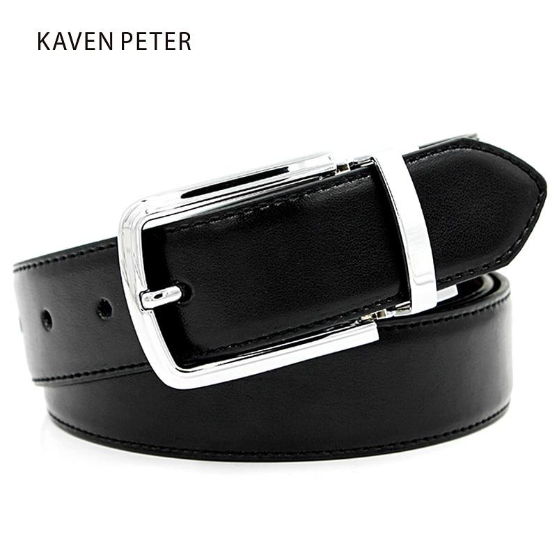Originální péřové pásy pro kalhoty Pánské opasky z lehkých slitin, přezky, popruhy, pas, oboustranný kolík, spony, hovězí kůže, originální kožený opasek