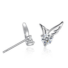 New Arrival 2019 Korean Angel Wing Earrings Simple Jewelry Fashion Stud For Women Girl Gifts Wholesale