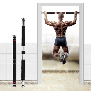 100KG Door Horizontal Pull Up Bars With Foam Handle And Steel Material