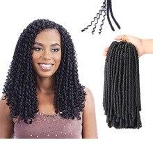 купить✲  Мягкие дреды Вязание крючком Косы 14 дюймов Синтетическое плетение волос 30 корней Вязание крючком