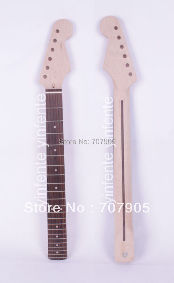 One Electric guitar neck Maple wood Rosewood 22 fret 25.5 Truss Rod Unfinished Free shipping Dropshipping Wholesale high quality electric guitar neck truss rod adjustmrnt 440mm guitar parts wholesale