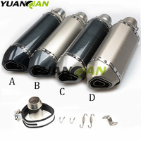 Motorcycle inlet 36 51mm Exhaust muffler pipe with DB Killer connector for SUZUKI GSXR1000 YAMAHA R1 R3 R6 MT 07 MT 09 MT 10