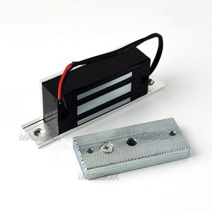 Image 2 - Remote Control 100lbs Embedded Magnetic Lock Mini 60KG Electromagnetic Lock + Remote Control + 12V Power Supply