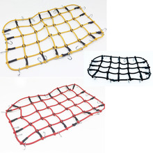 1/10 RC Car Elastic Luggage Net Roof Rack Storage With Hooks for Axial SCX10 D90 RC4WD Traxxas TRX-4 1:10