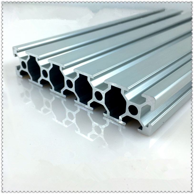 20100 Aluminum Extrusion Profile European Standard White Length 350mm Industrial Aluminum Profile Workbench 1pcs