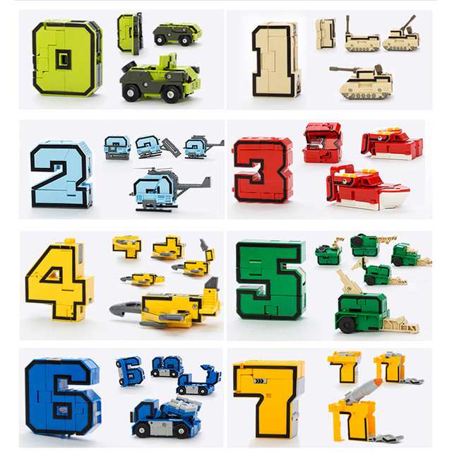 Magic Numbers Transformation Letters symbol Assembly 15 pcs/set