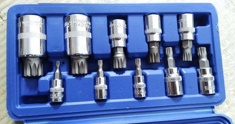 Tool Sets Good High Quality 12pcs Screwdriver Allen Head Sleeve Wrench Spanner Socket Set Tamper Proof Hand Tools