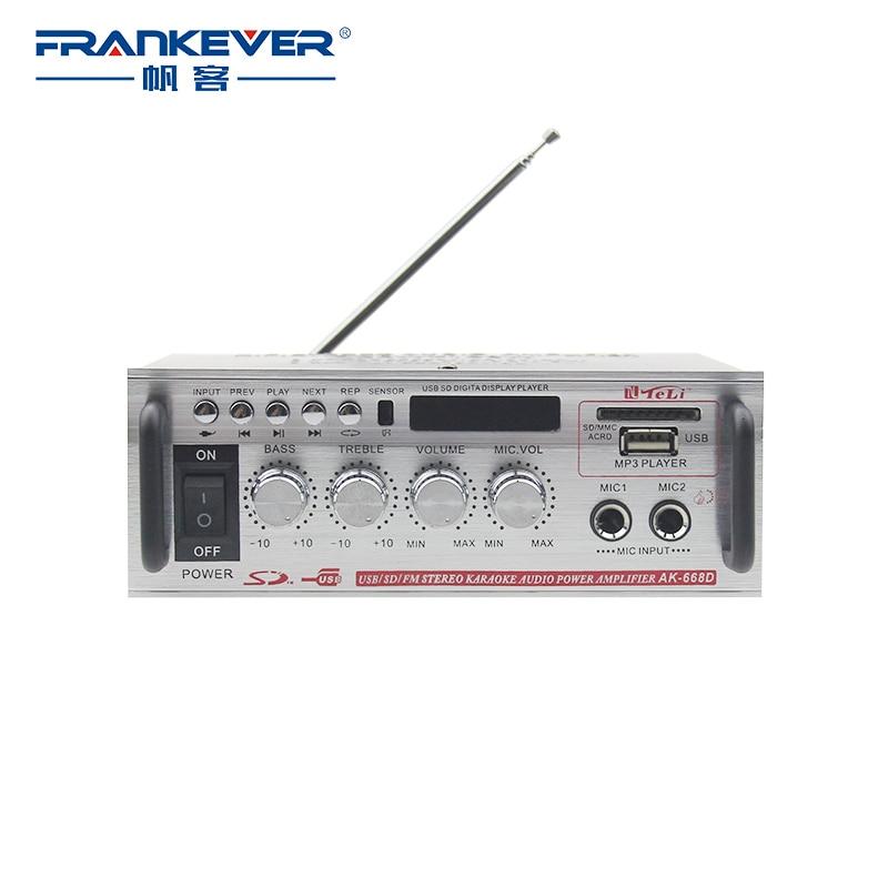 FrankEver hifierősítők AC200V-240V Teljesítményerősítő házimozi rendszer audió DC12V erősítő autóhoz