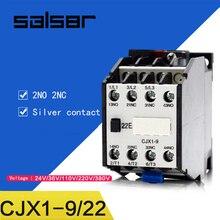 цена на CJX1-9/22 3TB40 AC contactor DIN Rail Mounted 2NO 2NC 24V/36V/48V/110V/127V/220V/380V 9A 50HZ/60HZ