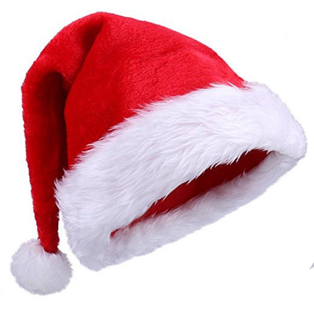 b4e4c71be047f 2018 Navida New Arrival Christmas Hats Caps Santa Claus Xmas Plush Cap  Christmas Gift New Year