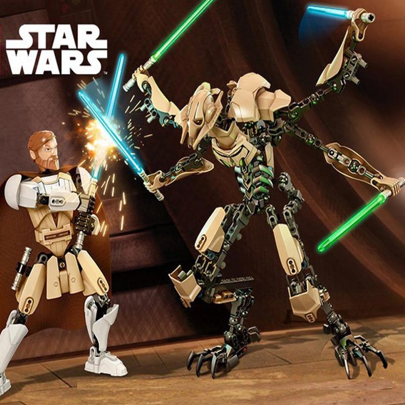 183 pcs KSZ 714 Wars 7 General Grievous With Lightsaber Storm Trooper Figure Toys Building Blocks Set Compatible With Lepined