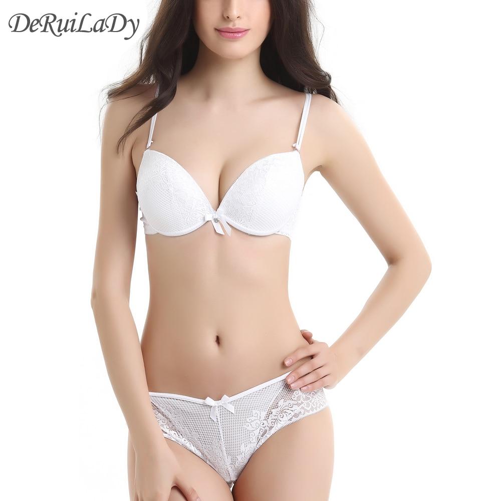 ヾ ノderuilady Lace Bra ᗕ Set Set Deep V Sexy Push ̀ ́