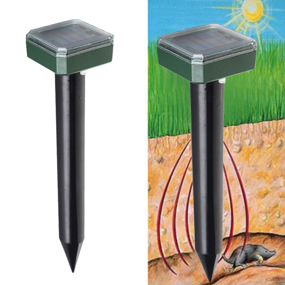 Solar Outdoor Garden Mole Repellent Solar Power Ultrasonic Mole Snake Bird Mosquito Mouse Ultrasonic Pest Repeller Control#