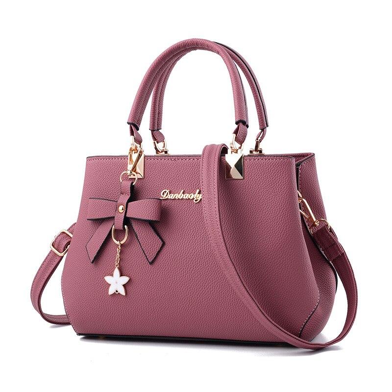 Lisse 2018 New Arrvial Fashion Casual Tote Handbag PU Women Zipper shoulder & Crossbody Bag with Bow